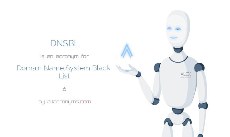DNSBL - Domain Name System Black List