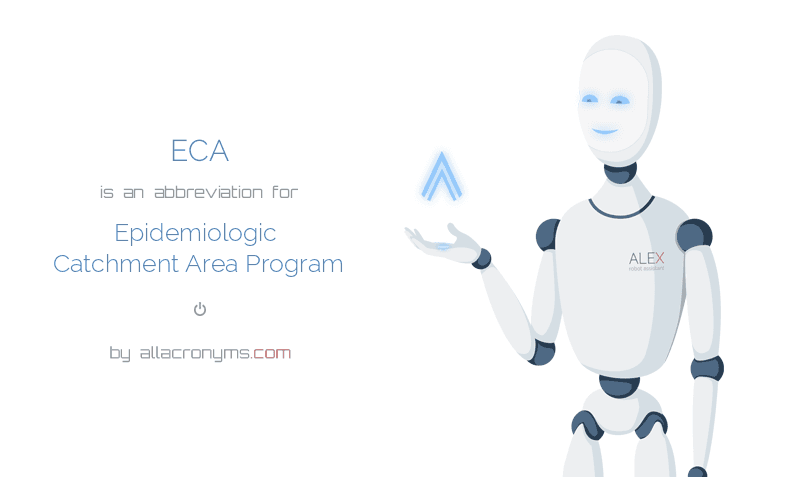 ECA is  an  abbreviation  for Epidemiologic Catchment Area Program