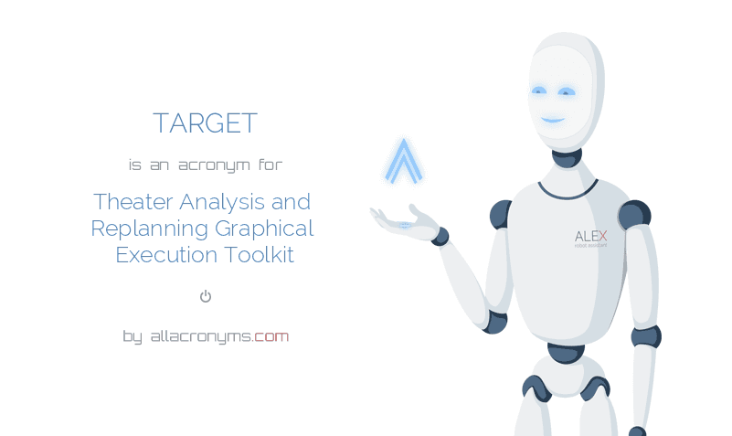 TARGET is  an  acronym  for Theater Analysis and Replanning Graphical Execution Toolkit