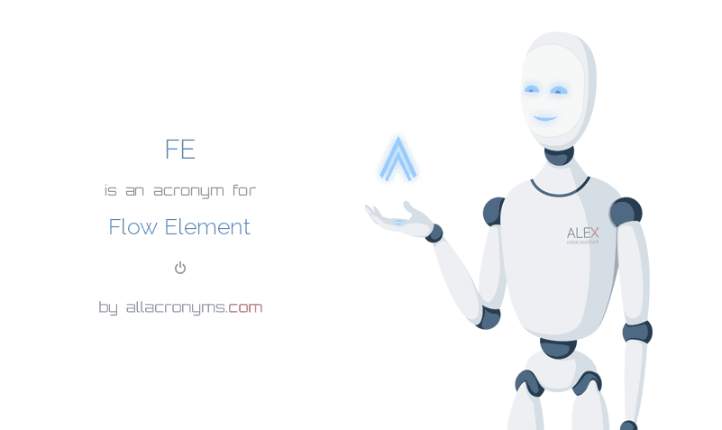 FE is  an  acronym  for Flow Element