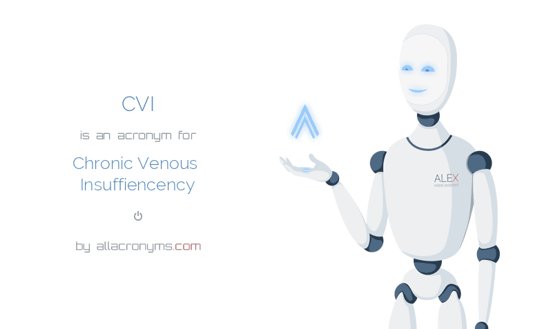 CVI is  an  acronym  for Chronic Venous Insuffiencency