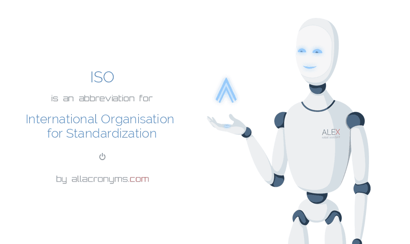 ISO is  an  abbreviation  for International Organisation for Standardization