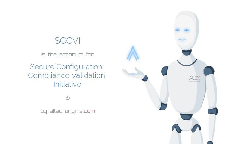 sccvi abbreviation stands for secure configuration compliance