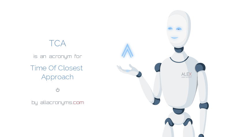 TCA is  an  acronym  for Time Of Closest Approach