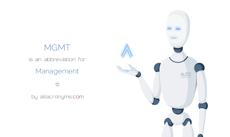 MGMT is  an  abbreviation  for Management