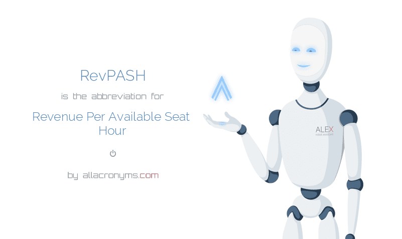 RevPASH is  the  abbreviation  for Revenue Per Available Seat Hour