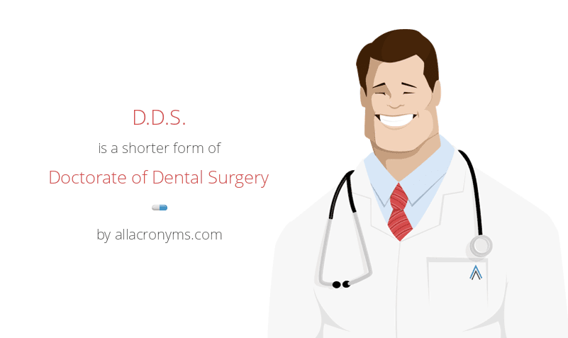 D.D.S. is a shorter form of Doctorate of Dental Surgery