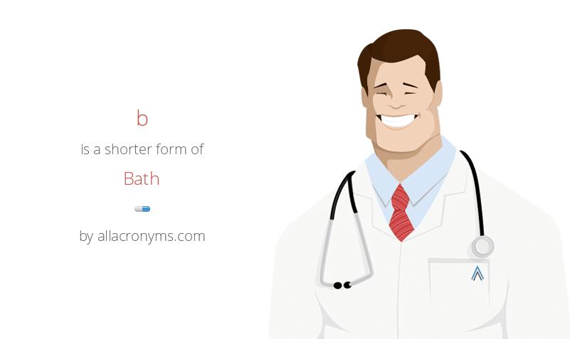 b is a shorter form of Bath