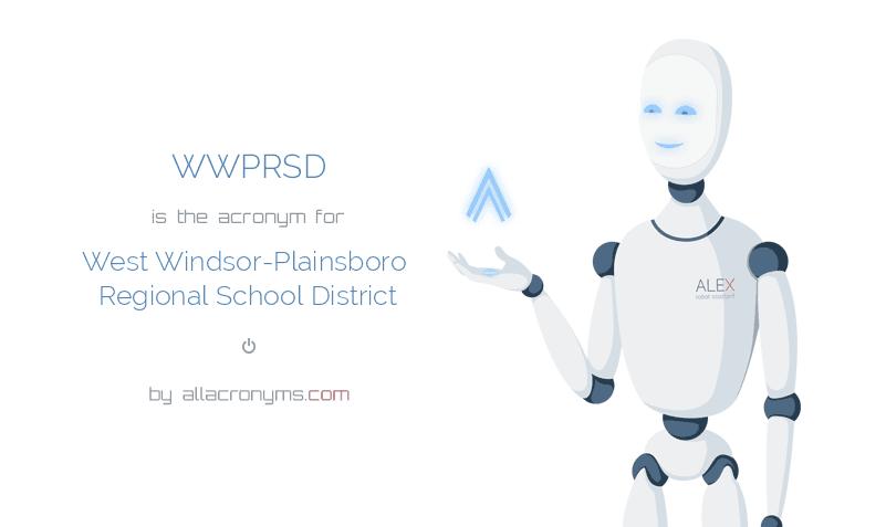 WWPRSD is  the  acronym  for West Windsor-Plainsboro Regional School District