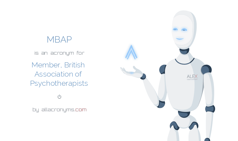 MBAP is  an  acronym  for Member, British Association of Psychotherapists