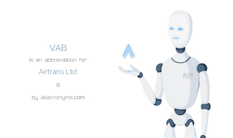 VAB is  an  abbreviation  for Airtrans Ltd