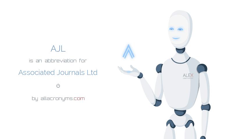 AJL is  an  abbreviation  for Associated Journals Ltd