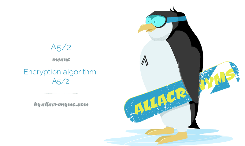 A5/2 means Encryption algorithm A5/2