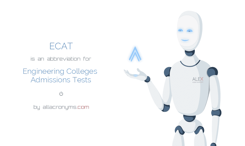 ECAT is  an  abbreviation  for Engineering Colleges Admissions Tests