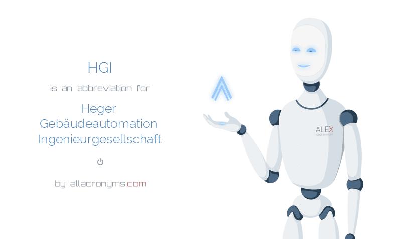 HGI is  an  abbreviation  for Heger Gebäudeautomation Ingenieurgesellschaft
