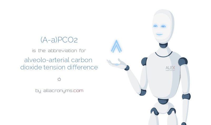 (A-a)PCO2 is  the  abbreviation  for alveolo-arterial carbon dioxide tension difference