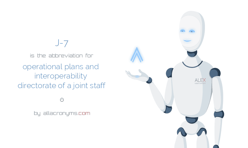 J-7 is  an  abbreviation  for operational plans and interoperability directorate of a joint staff
