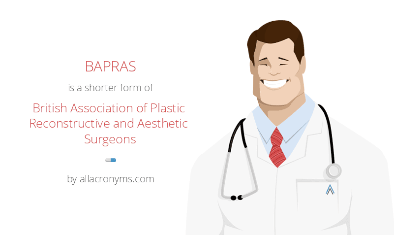BAPRAS is a shorter form of British Association of Plastic Reconstructive and Aesthetic Surgeons