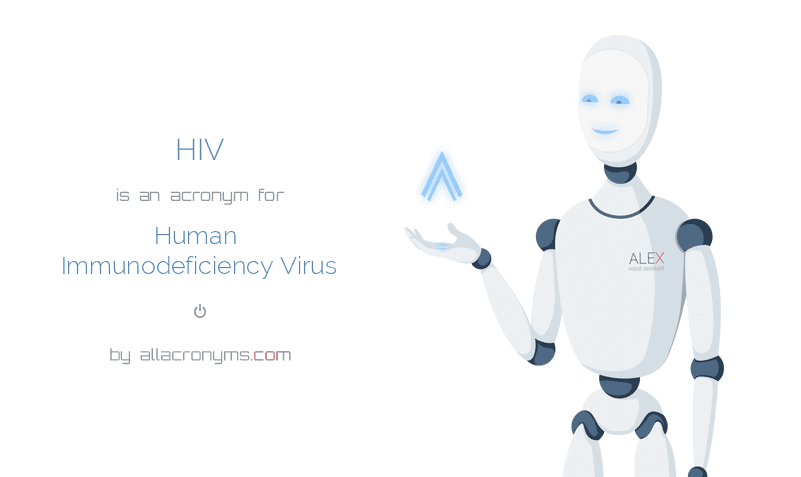 HIV is  an  acronym  for Human Immunodeficiency Virus