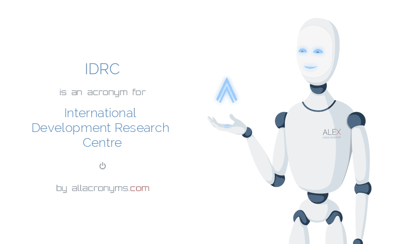 IDRC is  an  acronym  for International Development Research Centre