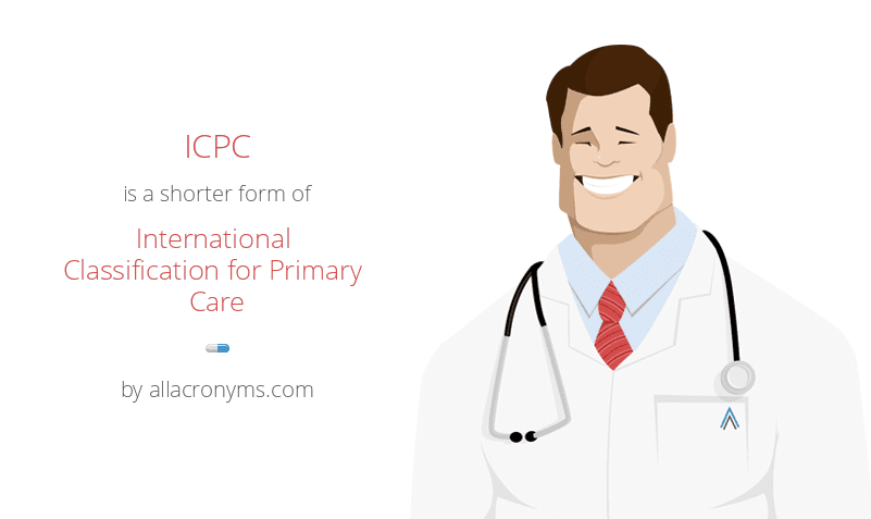 ICPC is a shorter form of International Classification for Primary Care